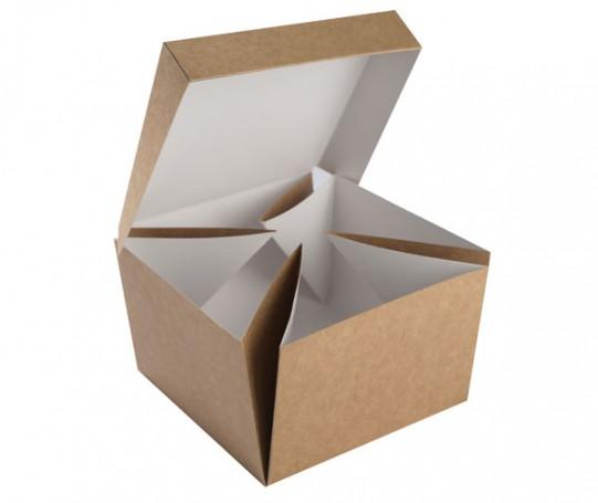 Burger box rozkładany do talerza 140x140x95 (400 szt.)
