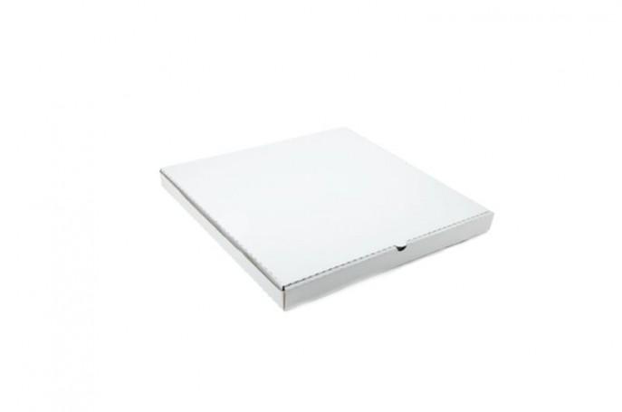 Pudełka na pizzę, wierzch biały spód szary